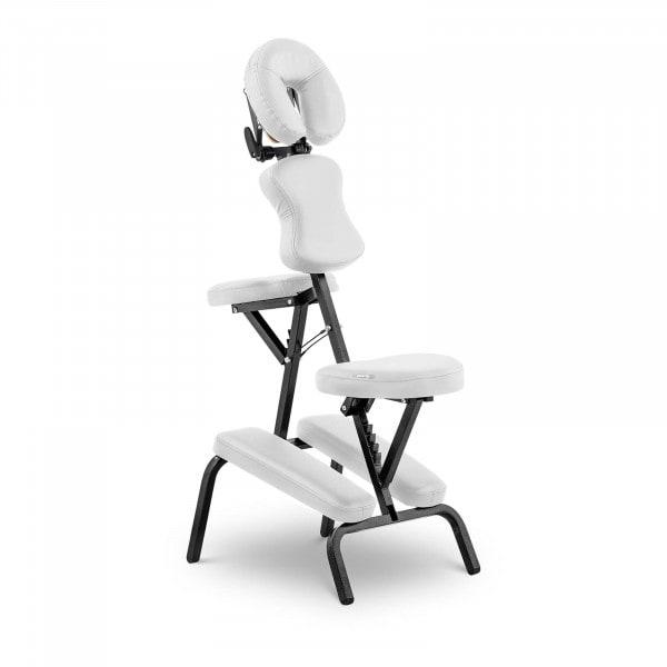 Massagestuhl klappbar MONTPELLIER WHITE - weiß