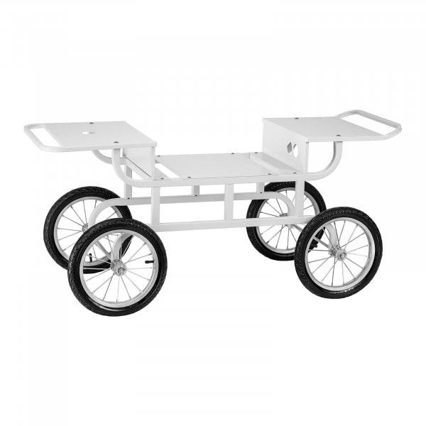 Unterwagen für Zuckerwattemaschine - 4 Räder - weiß