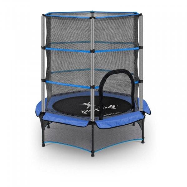 Kindertrampolin - mit Sicherheitsnetz - 140 cm - 50 kg - blau