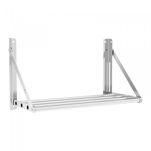 Wandbord - klappbar - Stangendesign - 60 x 30 cm - 40 kg - Edelstahl