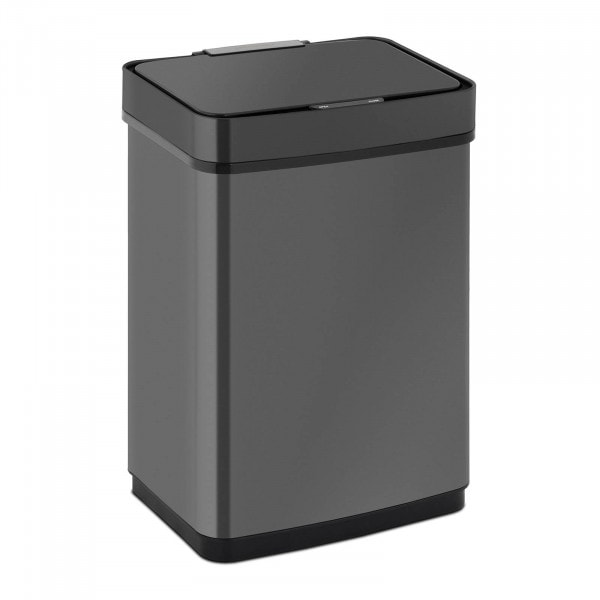 Sensor Abfalleimer - 50 L - schwarz - eckig