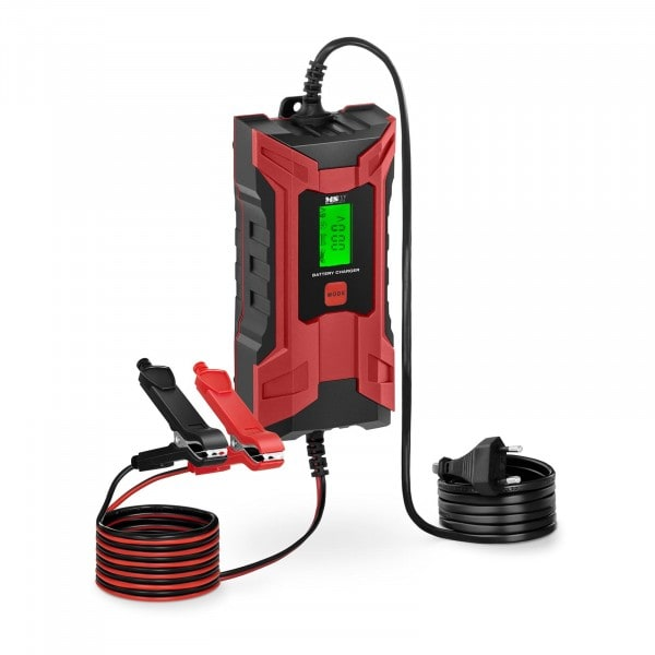 Autobatterie-Ladegerät - 6/12 V - 2/4 A - LCD-Anzeige