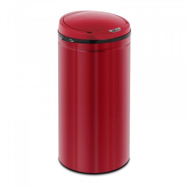Sensor Abfalleimer - 42 L - rot - Inneneimer- Karbonstahl
