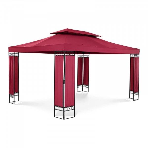 Gartenpavillon - 3 x 4 m - 160 g/m² - weinrot