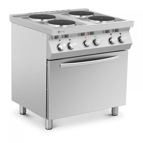 Elektroherd Gastro - 13.400 W - 4 Platten - mit Umluftofen