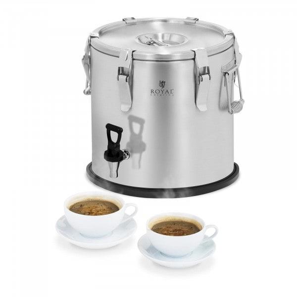 Thermobehälter - Edelstahl - 20 L - mit Ablasshahn