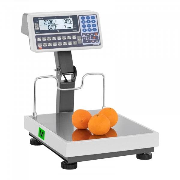 Preisrechenwaage mit Hochanzeige - geeicht - 30 kg/10 g - 60 kg/20 g