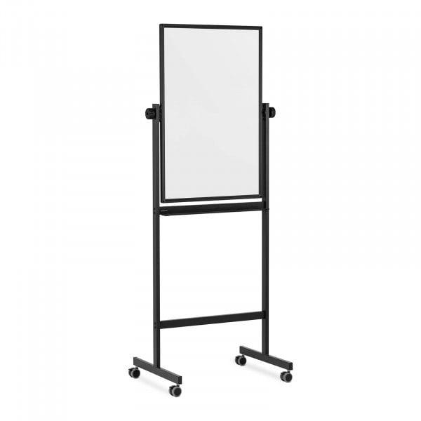 Whiteboard - 90 x 60 cm - doppelseitig - kippbar - Rollen