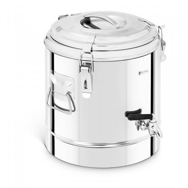 B-Ware Thermobehälter Edelstahl - 12 L - mit Ablasshahn