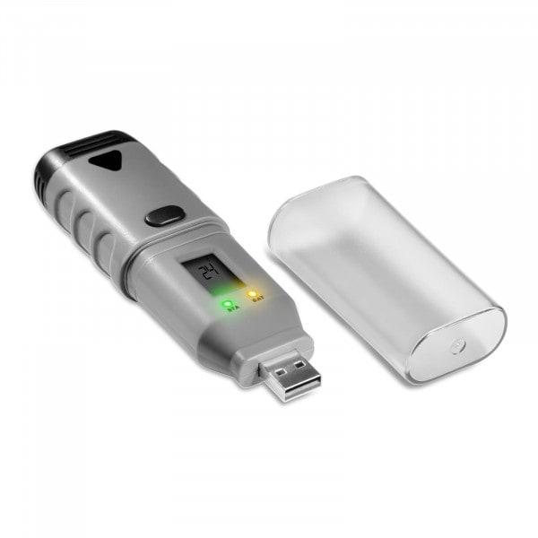 Datenlogger Temperatur + Luftfeuchtigkeit - LCD - (-35) bis +80 °C - 0 bis 100 % rH