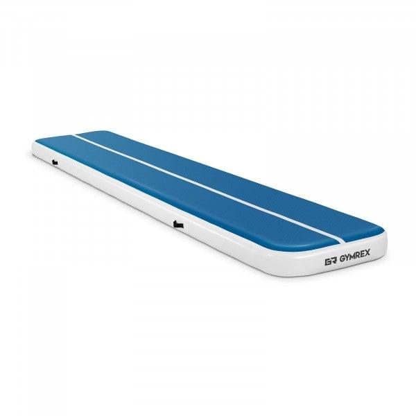 Aufblasbare Turnmatte - 500 x 100 x 20 cm - 250 kg - blau/weiß