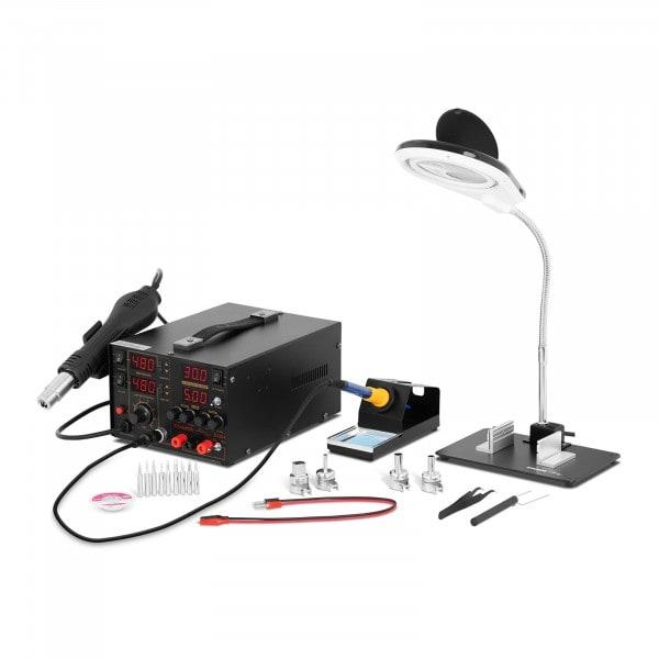 Set Lötstation mit integriertem Labornetzgerät + Zubehör