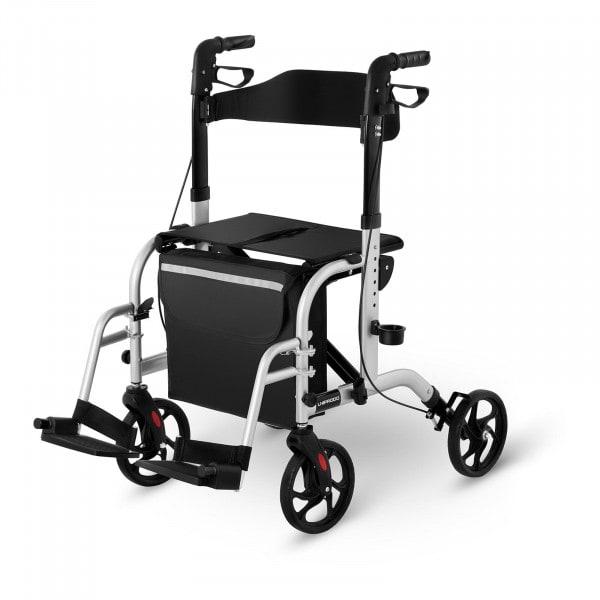 B-WARE Rollator-Rollstuhl 2-in-1 - silber - 136 kg