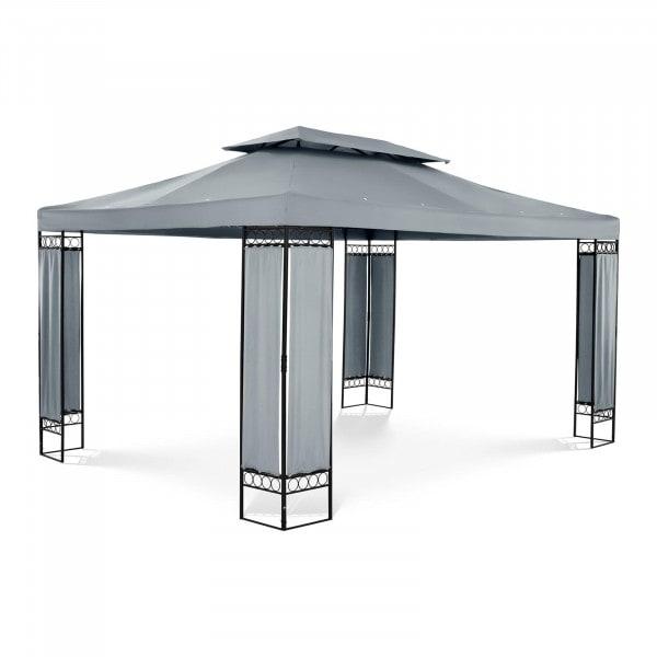 Gartenpavillon - 3 x 4 m - 160 g/m² - dunkelgrau