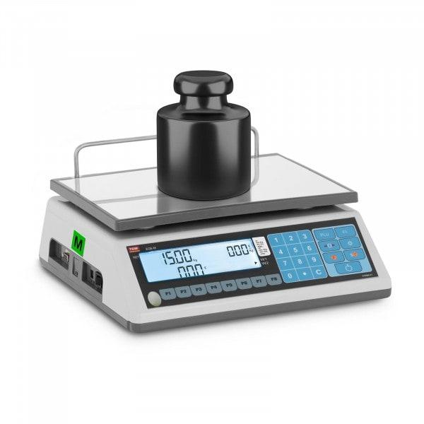 Preisrechenwaage - geeicht - 6 kg/2 g - 15 kg/5 g