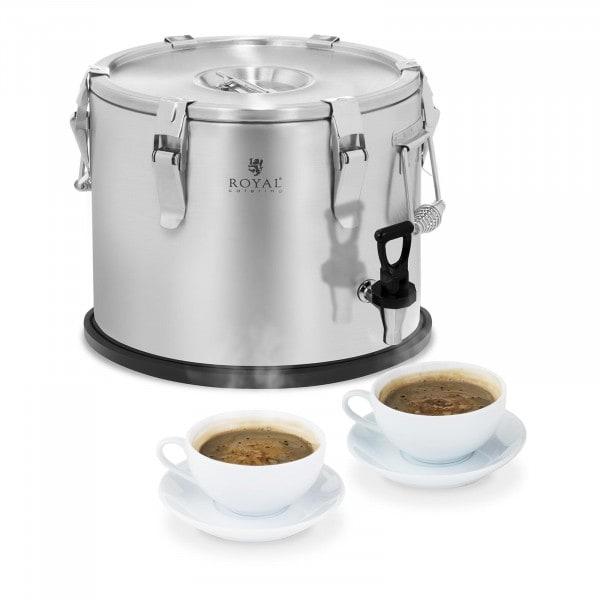 Thermobehälter - Edelstahl - 15 L - mit Ablasshahn