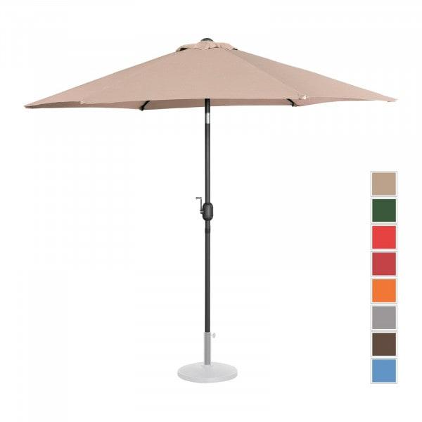 Sonnenschirm groß - creme - sechseckig - Ø 270 cm - neigbar