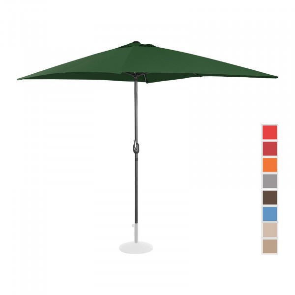 Sonnenschirm groß - grün - rechteckig - 200 x 300 cm