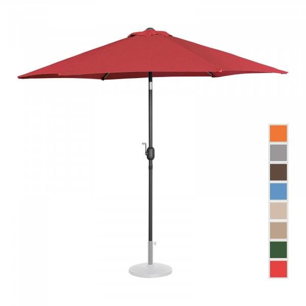 Sonnenschirm groß - bordeaux - sechseckig - Ø 270 cm - neigbar