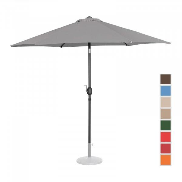 B-Ware Sonnenschirm groß - dunkelgrau - sechseckig - Ø 270 cm - neigbar