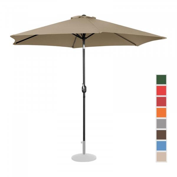 Sonnenschirm groß - taupe - sechseckig - Ø 300 cm - neigbar