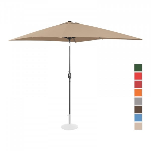 B-Ware Sonnenschirm groß - taupe - rechteckig - 200 x 300 cm - neigbar