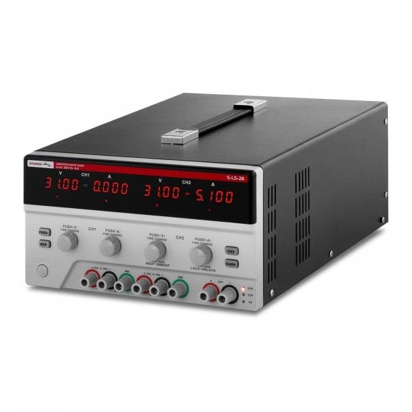 Doppel-Labornetzgerät - 2x 0-30 V - 0-5 A DC - 550 W