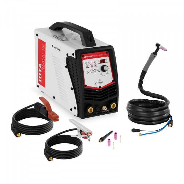 B-Ware WIG DC Schweißgerät - 200 A - Liftarc/HF - Digital - 230 V - Puls