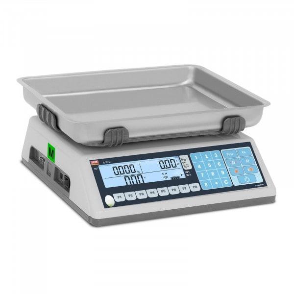 Preisrechenwaage - geeicht - 15 kg / 5 g - Dual-LCD