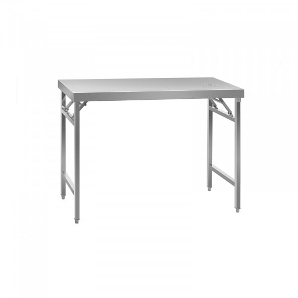 Klappbarer Arbeitstisch - Edelstahl - 120 x 60 cm