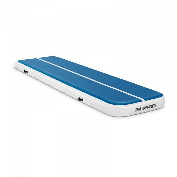 Aufblasbare Turnmatte - 400 x 100 x 20 cm - 200 kg - blau/weiß