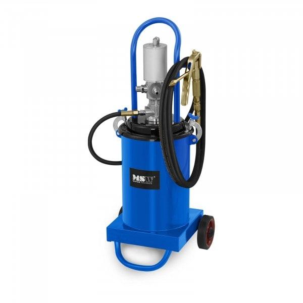 B-WARE Fettpresse pneumatisch - 12 Liter - fahrbar - 240-320 bar Pumpendruck