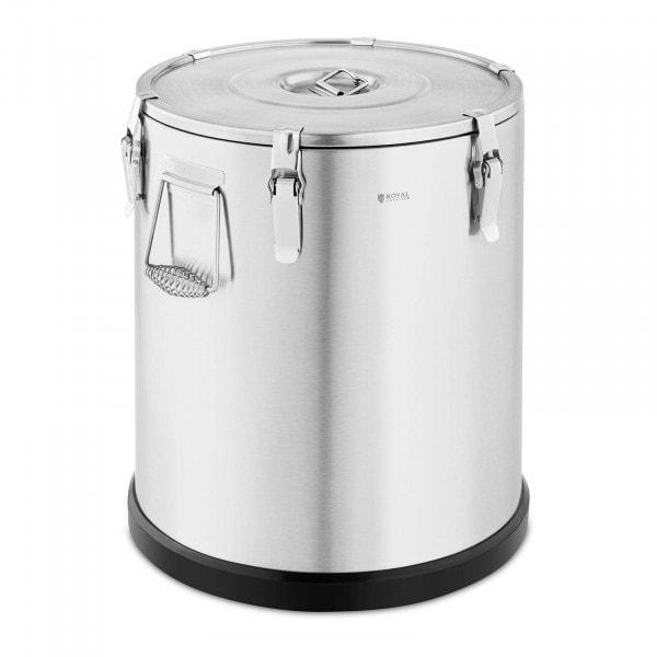 Thermobehälter Edelstahl - 60 L - Royal Catering - Gummiboden