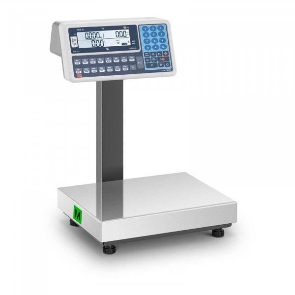 Preisrechenwaage - geeicht - 30 kg - LCD-Anzeige