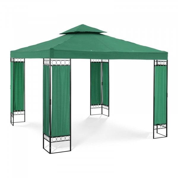 Gartenpavillon - 3 x 3 m - 160 g/m² - dunkelgrün