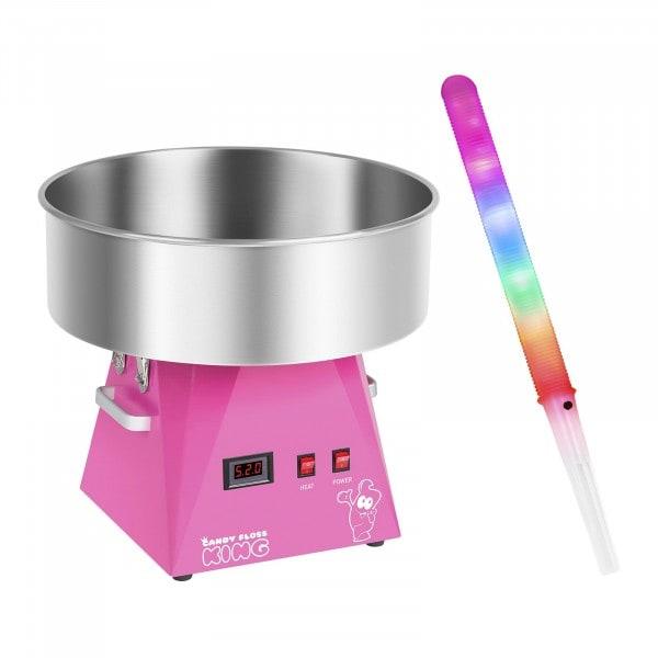 Zuckerwattemaschine mit Zuckerwattestäbchen LED - 52 cm - 1.030 Watt - 50 Stk.