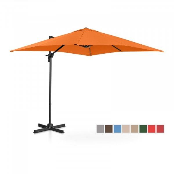 Ampelschirm - orange - viereckig - 250 x 250 cm - drehbar