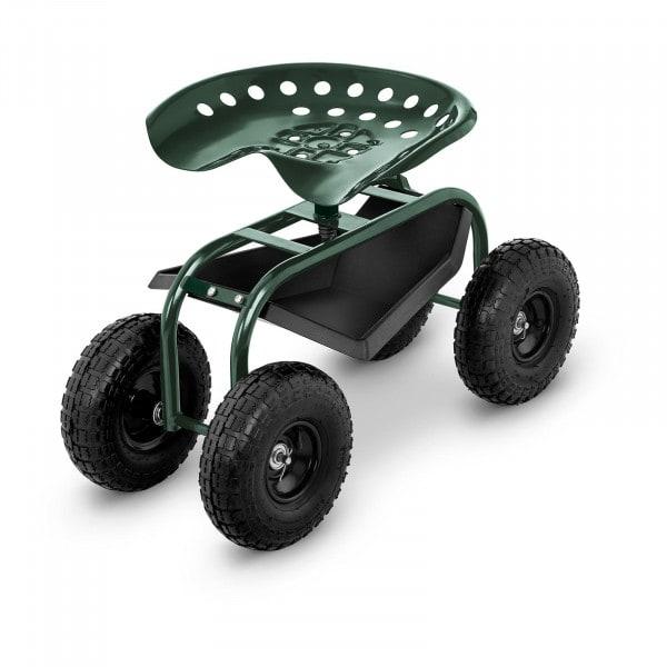 Fahrbarer Gartensitz - 150 kg - höhenverstellbar