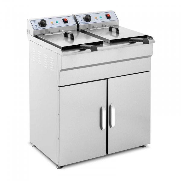 B-Ware Elektro-Fritteuse - 2 x 16 Liter - 400 V - Unterschrank