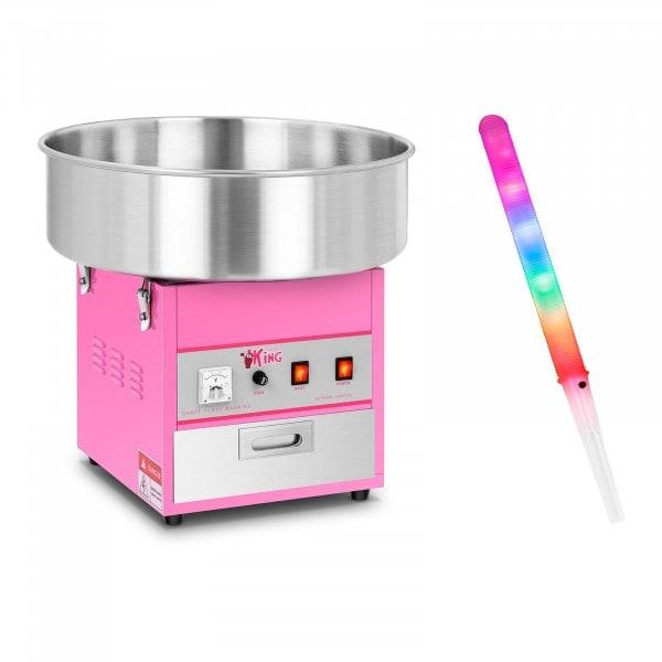 Zuckerwattemaschine mit Zuckerwattestäbchen LED- 52 cm - 1.200 Watt - 50 Stk.