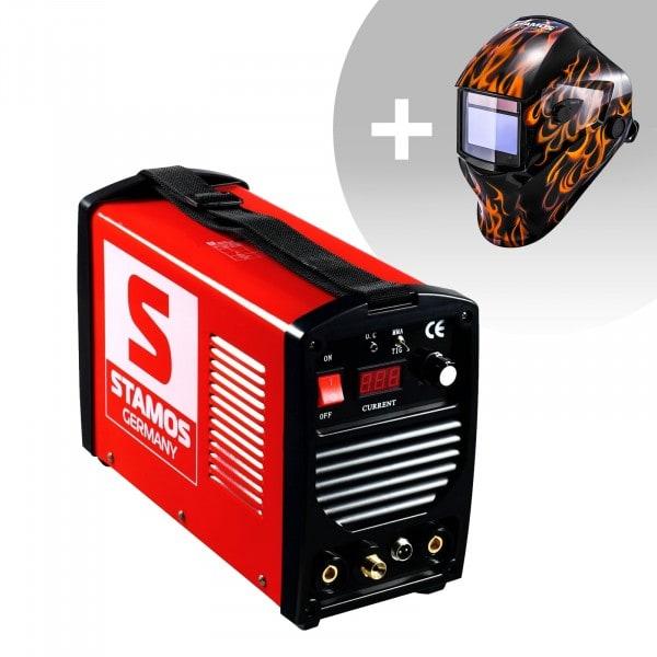 Schweißset WIG Schweißgerät - 200 A - 230 V - tragbar + Schweißhelm – Firestarter 500