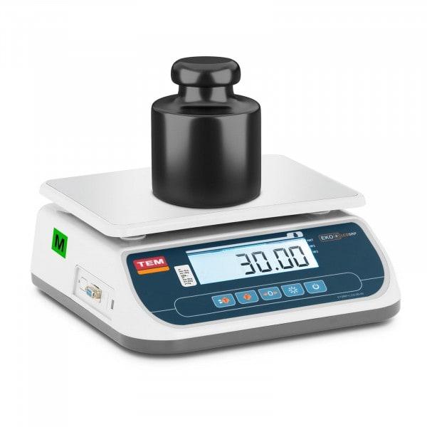 Tischwaage - geeicht - 30 kg / 10 g - LCD
