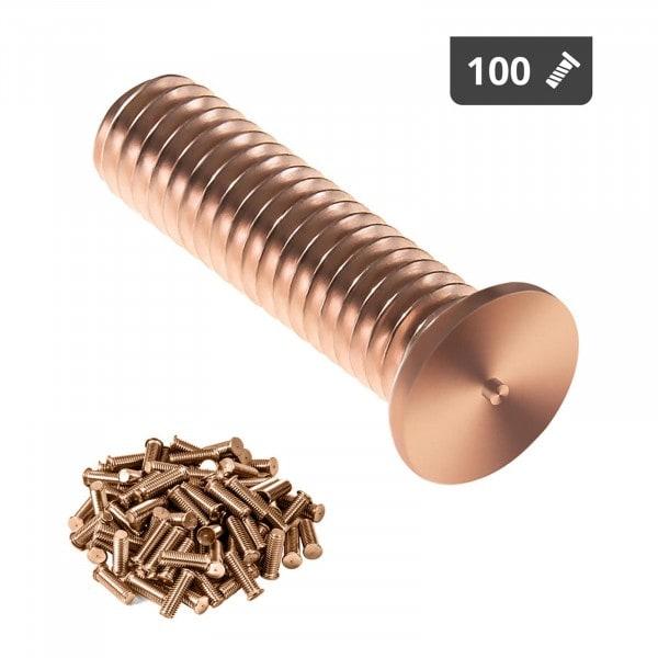 Schweißbolzen - M3 - 12 mm - Stahl - 100 Stück