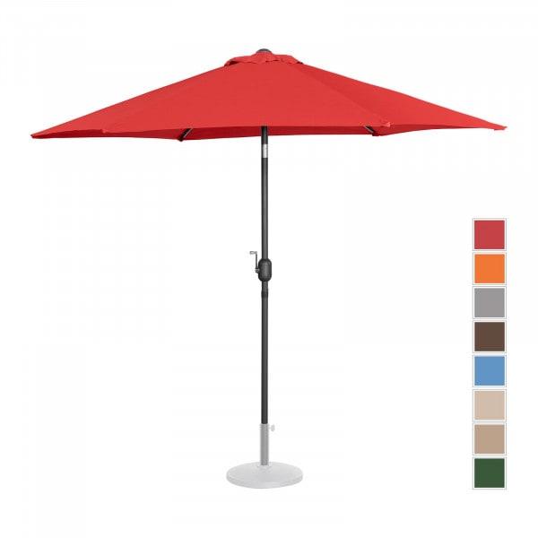 Sonnenschirm groß - rot - sechseckig - Ø 270 cm - neigbar