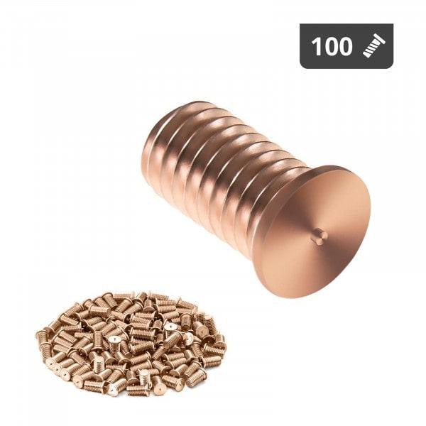 Schweißbolzen - M6 - 12 mm - Stahl - 100 Stück
