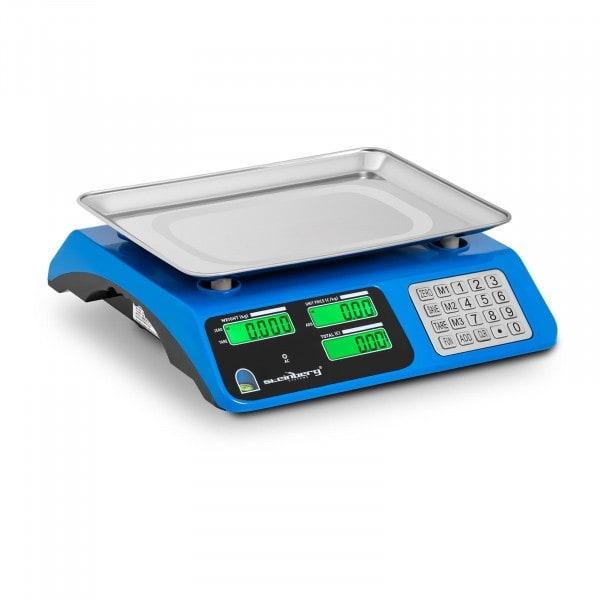 Kontrollwaage - 40 kg / 2 g - Dual LCD - Rand erhöht