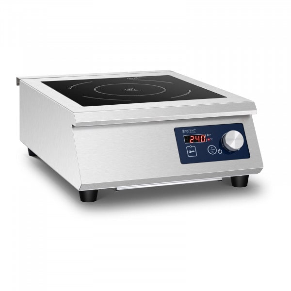 Induktionsplatte - 33 cm - 60 bis 240 °C - Timer