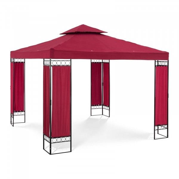 Gartenpavillon - 3 x 3 m - 160 g/m² - weinrot