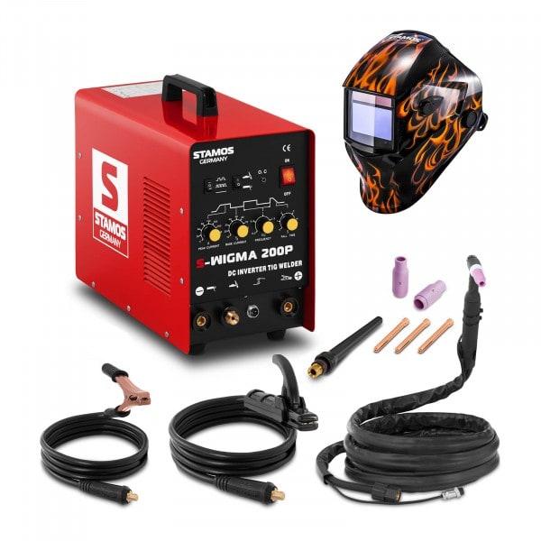 Schweißset WIG Schweißgerät - 200 A - 230 V - Puls + Schweißhelm – Firestarter 500