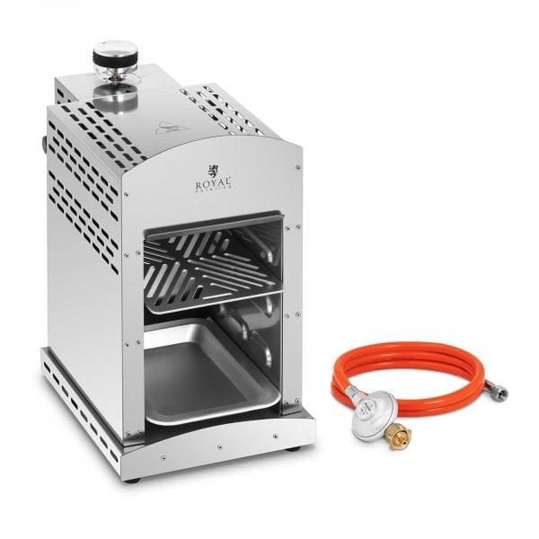 Set Oberhitzegrill mit Druckminderer - 3.500 W - 800 °C